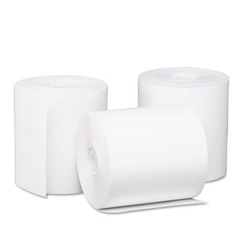 PM Company 05220 - One-Ply Thermal Cash Register/Point of Sale Roll, 3-1/8 x 220 ft, White, 50/CT