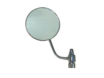 OUTSIDE REAR VIEW MIRROR, DRIVER SIDE, VW BUG 1956-67, ROUND, CHROME