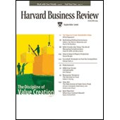Harvard Business Review, September 2006