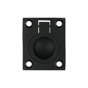 - Deltana FRP175U19 1 3/4-Inch x 1 3/8-Inch Solid Brass with black finish Flush Ring Pull