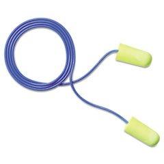 Aearo E?A?R Earsoft Yellow Neons Soft Foam Ear Plugs, Corded, Regular Size (311-1250)