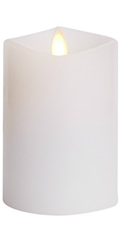 Luminara Flameless Candle: 360 Degree Top, Unscented Moving Flame Candle with Timer (4