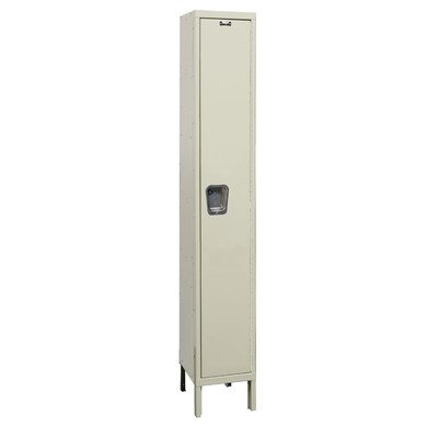 Hallowell UY1848-1A-PT Maintenance Free Quiet KD Metal Locker, Assembled, 1-Wide Grouping, 1 Tier, 72