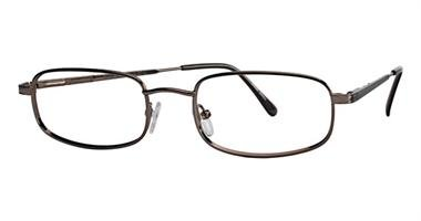 Onguard 103 Safety Glasses Unisex Full Rimmed Metallic Frames in Rectangle Shape Offered in Antique Pewter, Brown, Pewter & Chocolate Chrome color from Eyeweb - Eyeglasses Brown Metallic Frame
