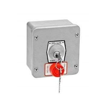 MMTC 1KXS Nema 4 Exterior Tamperproof Open-Close Key Switch With Stop Button Surface Mount ()