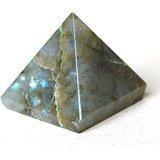 Kala Emporium Natural Gemstone 25-30mm Pyramid Feng Shui Spiritual Reiki Healing Energy Charged 20-30mm 1pc (Labradorite)
