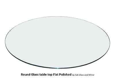 Fab Glass and Mirror 1/4'' Thick Flat Polished Round Tempered Glass Table Top, 47'' by Fab Glass and Mirror