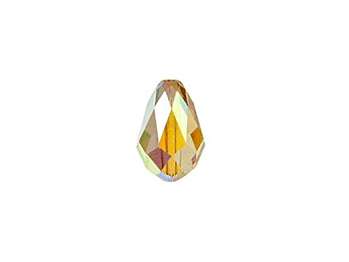 Swarovski Crystal 5500 Faceted Teardrop Beads 9x6mm, Light Colorado Topaz AB, Wholesale Packs | Pack of 36