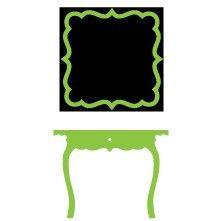 Kids Wall Decal Chalkboard Mirror Light Green - 20