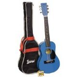 Lauren LAPKMBL 30-Inch Student Guitar Package - Metallic Blu