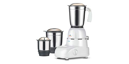 Bajaj Glory 500-Watt Mixer Grinder with 3 Jars (White)