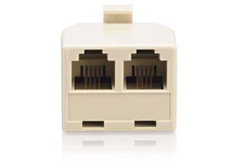 RadioShack® 4-Pin 1-to-2-Line Adapter (1 Modular Adapter)
