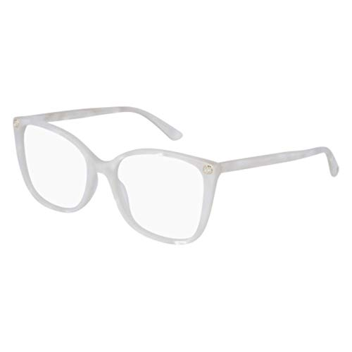 Gucci GG 0026 O- 003 WHITE Eyeglasses