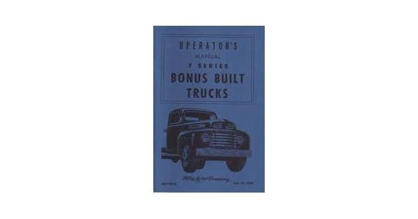 karaoke-jack.jp FORD 1949 Truck Owner's Manual 49 Pick Up Vehicle ...