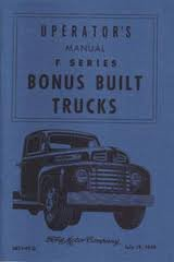 1949 Ford Truck Owners Manual 49 (with Decal)