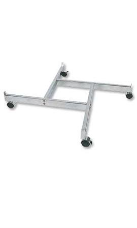 Chrome 4-Way Grid Base with Casters (Use with existing 3'' on Center Wire Grid Panels)