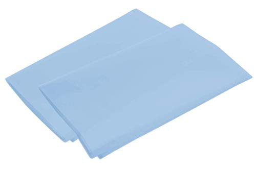 American Pillowcase Full Size Flat Sheet Only - 300 Thread Count 100% Egyptian Cotton - Fitted Sheets Sold Separately for Set Guarantee (Light Blue)