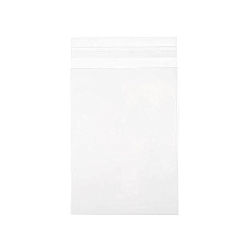 ClearBags 5 1/4 x 7 1/8 + Flap Crystal Clear Seal Top Bags with Resealable Adhesive on Flap, Not Bag | Protects Photos, Artwork, Crafts, Favors | Acid Free and Archival Safe | B75SA (1 Pack of 100)