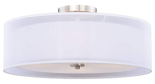 Nuage 24In. Semi-Flush Ceiling Satin Nickel ()