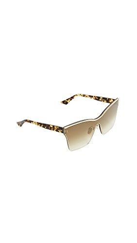 DITA Women's Silica Sunglasses, Gold/Brown, One - Eyewear Dita