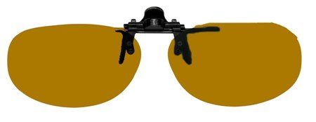Polarized Bronze Metal Clip On Flip Up Brown Sunglass Lenses, Lo Oval, 55mm Wide X 35mm High, 120mm Wide with Bridge
