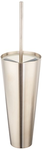Hansgrohe 40835820 Axor Starck Wall Toilet Brush/Holder, Brushed Nickel by AXOR
