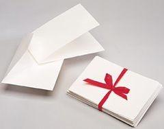 (10 x Landscape deckle edged cards & envelopes 17 x 11.5cm)