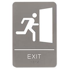 ** ADA Sign, 6 x 9, Exit, Gray **