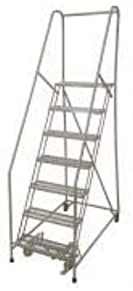 product image for Cotterman 1007R3232A1E10B4C1P6 - Rolling Ladder Steel 100In. H. Gray
