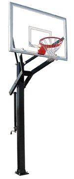 最初チームPowerhouse 660 steel-glass in ground調整可能バスケットボールsystem44、マルーン   B01HC0B3N8