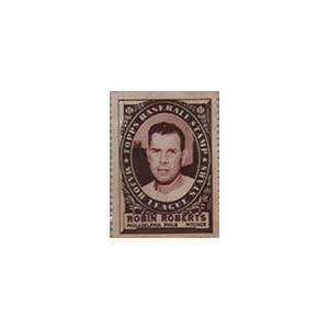 1961 Topps Stamps (Baseball) Card# 154 Robin Roberts of the Philadelphia Phillies VGX Condition