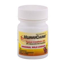 Beutlich HurriCaine Wild Cherry Flavored Topical Anesthetic Gel 1 oz. Jar
