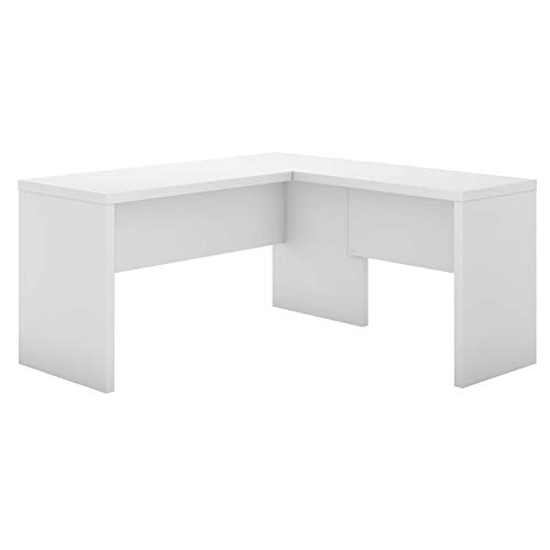 Office by kathy ireland Echo L Shaped Desk in Pure White