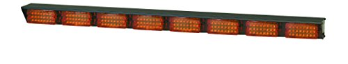 Federal Signal 320772 SignalMaster 8-Lamp LED Directional Warning Light, 15' Cable and Amber Lens, 42
