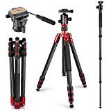 Neewer Carbon Fiber Tripod Monopod 67 inches/170 centimeters with 360 Degree Ball Head