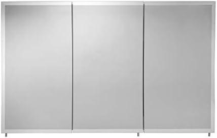 Croydex Burwell 30-Inch x 48-Inch Triple Door Tri-View Cabinet