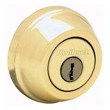 Kwikset 2-5/8 in. Single Cylinder Deadbolt in Polished Brass