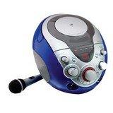 GPX J108BL Portable Karaoke CDG System With Dual Microphone Jacks