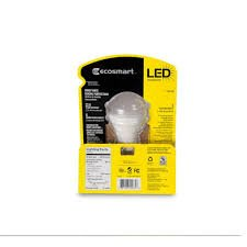 EcoSmart 184902 40W Equivalent Bright White (3000K) A19 LED Light Bulb