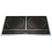 Eurodib Double Induction Cooker, 23 1/2 x 14 1/8 x 2 1/2 inch - 1 each.