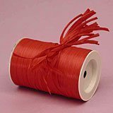 "Red Matte Raffia Ribbon, 1/4"" X 100 Yards"