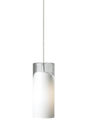 Horizon 1 Light Pendant Shade Color: Opal, Mounting Type: Fusion Jack, Finish: Bronze
