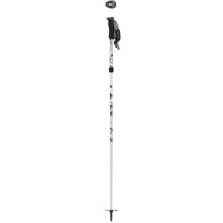 Swix Sonic RC Performance Aluminum Adjustable Alpine Pole (2-Piece), Silver/Green, Medium/115-140cm