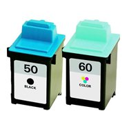 Toner Spot Remanufactured Full Color Set Ink Cartridges Replacement for Lexmark 17G0050 No.50 and 17G0060 No.60 (Black and Color)