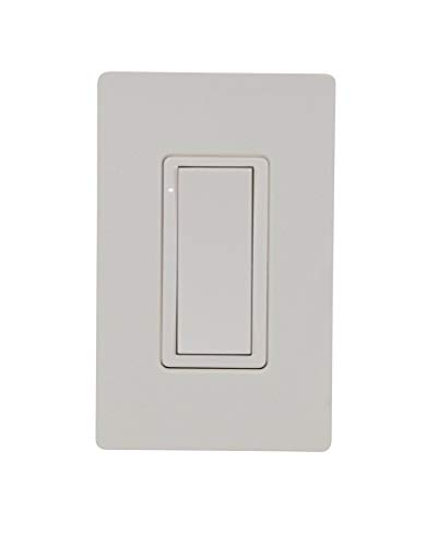 Crestron Cameo Wireless in-Wall Switch, 120V, Almond Smooth
