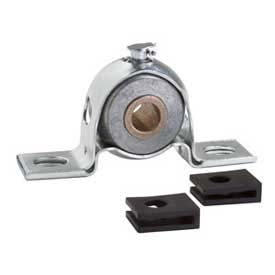 Clesco, Pillow Block Bronze Bearing, PBPS-BR-100, Self-Aligning, Pressed Steel Housing, 1'' Bore