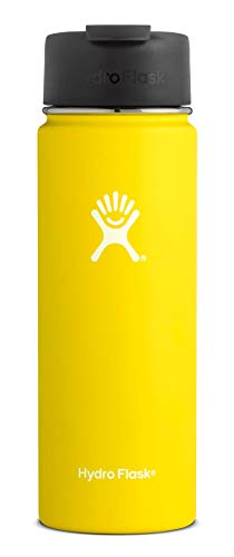 Hydro Flask 20 oz Travel Coffee Flask - Stainless Steel & Vacuum Insulated - Wide Mouth with Hydro Flip Cap - Lemon]()
