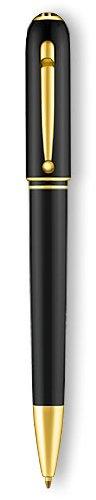 (Dunhill Sidecar Black Resin Gold Plated Ballpoint Pen NUA2233)