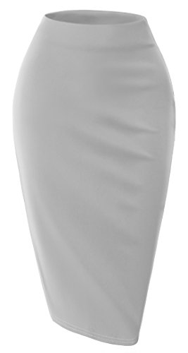 SELOOK Women's Elegance skirt-GRAY-2XL