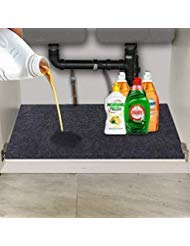 (Convelife Under The Sink Mat,Kitchen Tray Drip,Premium Cabinet Liner-Absorbent/Waterproof/Reusable/Washable-Protects Cabinets,Drawers,Contains Liquids (24